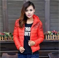 New Women Winter Coat  Thick Hooded  Zipper Pockets Fashion Slim Winter Parkas Down Jacket  Free Shipping XX683