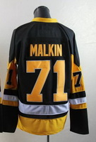 Free shipping Hockey jerseys 2014 mens #71# Evgeni Malkin black  Authentic Ice Hockey Jersey size: 48-56 can mix order