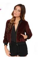 XS-XXL 2014 New Coat Of Women Fashion Sports Wind Mohair Baseball Uniform Jacket Fashion Rib Knitting Stand Collar Outerwear
