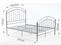 4FT8 Betty Double Metal Bed Frame New Bedstead  betty double bed All steel tube bed frame SKU:DB534