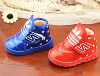 2014 Winter children's fashion warm shoes, baby Boys and girls snow boots, kid's clover fashion  sneakers size:17-22