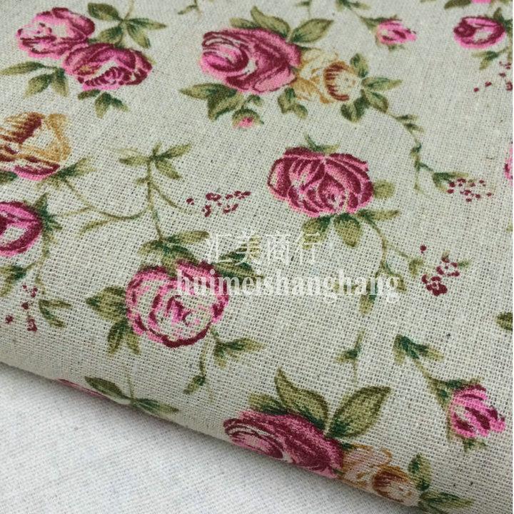 Best Zak ka retro mood rose linen fabric sofa cushions handmade cotton linen fabric(China (Mainland))