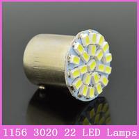 2x 1156 Ba15S S25 P21W Auto Car 22 LED Lamps Tail Headlight Fog Turn Signal Bulbs Replace HID Xenon white