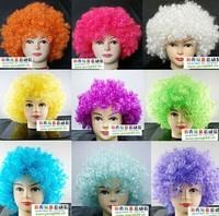 Halloween Wig     technician fans wig curls     explosive head funny fluffy wig wig studio