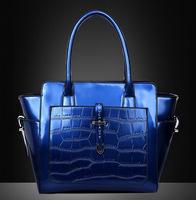Hot 2014 New Medium(30-50cm) Interior Zipper Pocket Zipper Women Shoulder Bag Diagonal Package Pu Shiny Banquet Woman Handbag