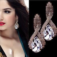 New 2014 European and American fashion  teardrop-shaped crystal earrings  B491