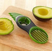 New 3-in-1 Avocado Slicer Splits Plastic Slices Sharp Durable Blade Fruit Pitter #62819