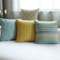 New Fresh Geometric Home Practical Colors Decor Linen Waist Throw Pillow Case Sofa Cushion Cover