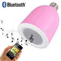 5pcs/lot Brand New Saling Wireless Bluetooth 3.0 Music Audio Speaker E27 Lamp Light Bulb