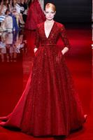 vestido de festa longo vermelho evening gowns with beads and crystals plus size womens elegant evening dresses new fashion 2014