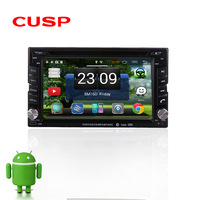 CU6202 wholesale Android 2 din Universal CAR DVD player FOR all car with WIFI,3G. Bluetooth.USB.DVR,GPS MirrorLink .