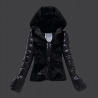 Women ladies duck down feather padded jacket coat coats outer wear parkas winter puffer