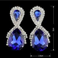 2014 The new High-quality high-end fashion rhinestone earrings  B496