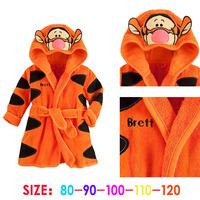 Lovely Girl's Cartoon Kids Tiger Night-Robe Winter Warm Bathrobe Sleepwear & Robes Kids Boys Girls Clothes Night-Robe CW-20