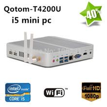 intel core i5 mini pc windows embedded,QOTOM-T4200U 12v mini pc HDMI 1080P RJ45 wireless,300M wifi,mini pc windows 7 ,32GB SSD(China (Mainland))