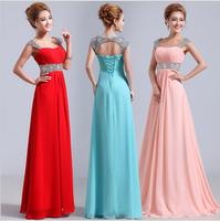 ADE-033 Double-shoulder Wave Neckline Racerback Bandage Design Long Evening Dress Formal Dress Bride Evening Dresses