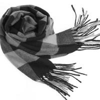 Classic British Grid Men Warm Autumn Winter Babage Tassel Cashmere Scarf Shawls And Scarves#65919