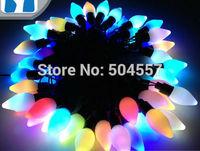 Free shipping 110-220V mango shape Christmas led string Lights 5m/50leds RGB light for Holiday/Party/Decoration