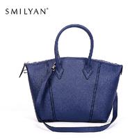 Smilyan genuine leather women handbag 2014 women messenger bag genuine leather fashion fall and winter women tote bags wholesale
