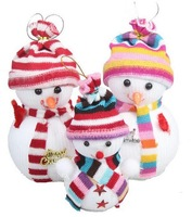 Christmas Snowman Doll Santa Claus Christmas Supplies Cute Christmas Tree Decorations 2 pieces/pack one large + one small