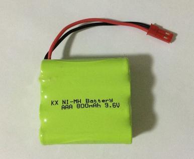 Free shipping 9.6V AAA 800mAh ni-mh Rechargeable battery pack(China (Mainland))
