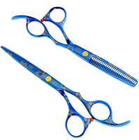 6.0inches  Professional barber scissors hairdressing scissors, hair cutting tool combination package