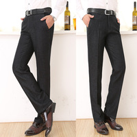 antumn/winter 2014 new formal business men's soild casual Pant crease wash straight leg Pant casual trousers