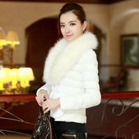 2014 New Winter Padded Coat Women Fashion Slim Short Paragraph Was Thin Stitching Down Jacket Collar Nagymaros parka Women 13867