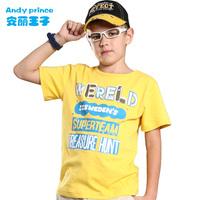 2013 summer boy child T-shirt print short-sleeve clothing pure cotton vest