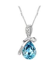 2014 Hot Women Crystal Rhinestone Drop Chain Necklace Pendant For Women Jewelry Statement Bijouterie Accessories Gift 2014