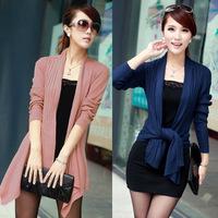 Women Lady Long Sleeve Loose Knitwear Sweater Cardigan Knitted Shawl Outwear