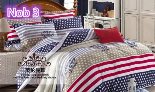 Têxteis lar reativa impressão 4 pcs dot e na faixa de edredom cama conjuntos de luxo incluem capa de edredon fronha folha de cama King size(China (Mainland))