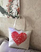 Casual Shoulder Bag Handbag Female Big Canvas Bag Shopping Bag 6pcs/lot Mixed Sale