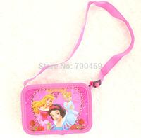 Free Shipping 48pcs Princess purse cartoon kids snack pack single shoulder satchel