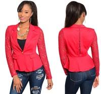 free shipping spring autumn women dress OL female vestidos casual lace suit women long sleeve formal slim coat dress LJ061LMX
