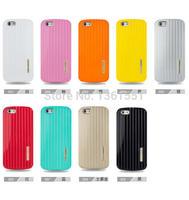 5 pcs Stylish Suitcase Luggage Shape Hard Cover Phone PC Case For iphone 6 4.7 inch 9 Colors
