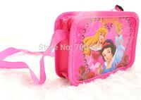 Free Shipping 132pcs Princess purse cartoon kids snack pack single shoulder satchel