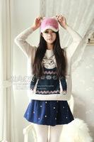 free shipping  NEW Fashion women keep warm The new 2014 velvet rabbit ears baseball cap Winter wild rabbit fur hat HYL36