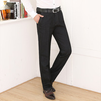 2014 Winter a thick business men's soild loose straight casual non-iron Elastic Long Famous Designer   casual pants