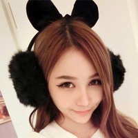 Imitation gold fox fur earmuffs ear warm winter warm earmuffs worn after(13 colors can be selected)