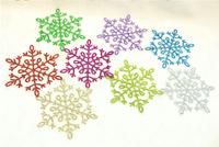 10pcs/lot 12cm Christmas decoration supplies Christmas tree powder snowflake