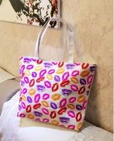 Hot Sale Girls Canvas Single Shoulder Bag Cute Printed Tote Portable Shopping Bag Mixed Sale Free Shipping