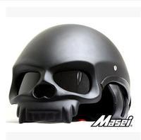 M star MASEI electric motorcycle helmet skeleton troll amphibious half helmet before and after 419