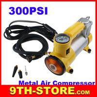 70077 Heavy duty Metal air compressor car charging pump 12V with lamp 150 PSI 35LPM handle air pump