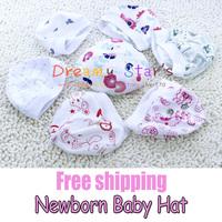 Free shipping 100% Cotton 0-2 Months Newborn Baby Hat baby Cap beanies Baby Unisex kids kid child winter Caps