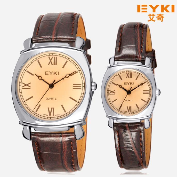 Eyki quartz watch trend lovers watch fashion vintage leather table spermatagonial watch 3696(China (Mainland))