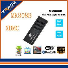 2014Original MK808 MK808B Dual Core Mini PC Android 4.2 Jelly Bean Droid TV Stick Dongle Rockchip RK3066 1GB 8GB HDMI Bluetooth(China (Mainland))