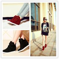 Free Shipping Hidden Wedge Heels Fashion Casual Women's Elevator Shoes Sneaker Sports Shoes For Women