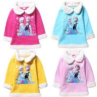 Children's Winter Fleece Sweater Autumn Thick Hoody Cotton Cashmere Sweater Turn-down Collar Sweater Girl Children Hoodies