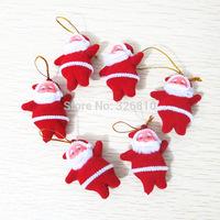 wholesale Small Santa Claus 5*3.5CM Christmas Gifts Christmas tree Decoration 100pcs/pack Free Shipping via EMS!